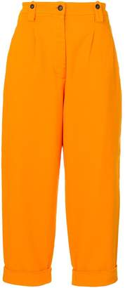 No.21 cropped straight trousers