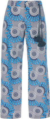 Figue Zulu Cropped Printed Cotton-Twill Pants