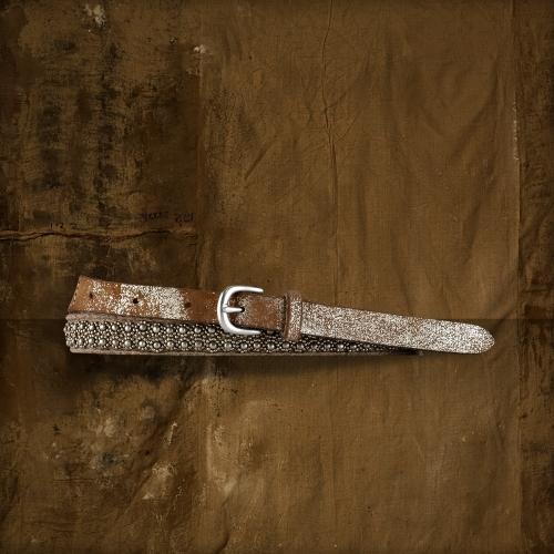 Denim & Supply Ralph Lauren Metallic Leather Beaded Belt