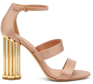 Salvatore Ferragamo Daiano Column Heel Sandals - Womens - Nude