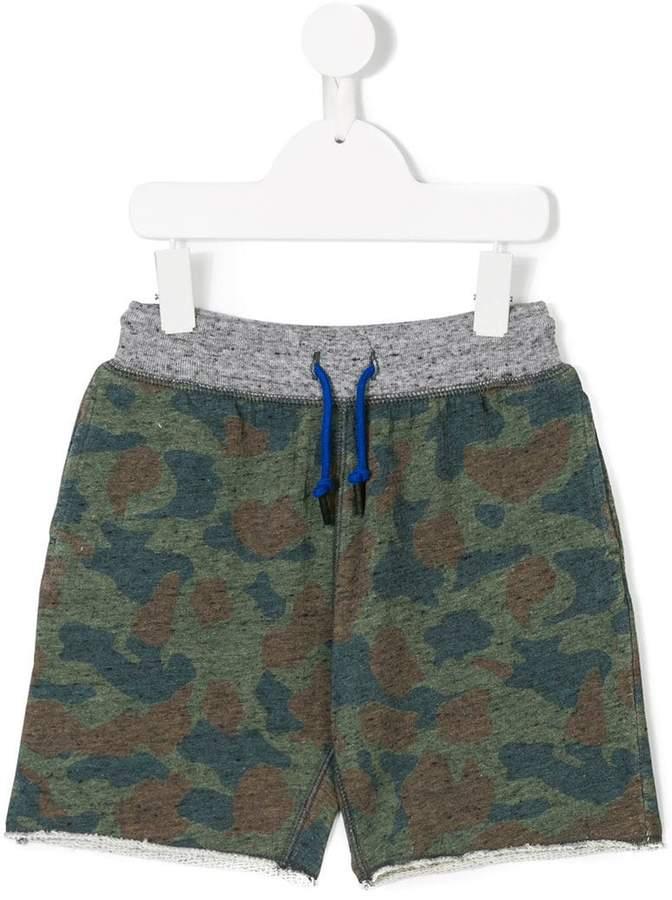 Bellerose Kids camouflage track shorts