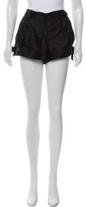 Emporio Armani Mid-Rise Mini Shorts Black Mid-Rise Mini Shorts