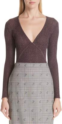Altuzarra Metallic Rib Knit Top