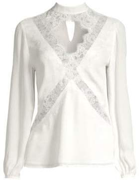 CAMI NYC Skylar Cutout Silk Blouse