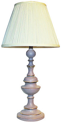 One Kings Lane Vintage Painted Brass Table Lamp - House of Charm Antiques