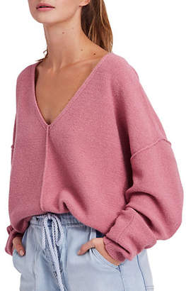 Free People Take Me Places Cotton Pullover