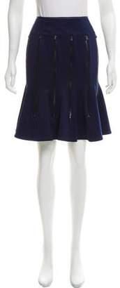 Junya Watanabe Zip-Accented Knee-Length Skirt