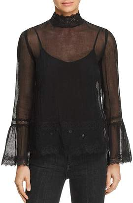 Bailey 44 My Treasure Bell Sleeve Lace Top