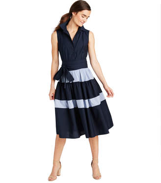 Vineyard Vines Sleeveless Tiered Shirt Dress