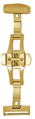 Hadley-Roma 18-mm IP Gold-Plated Push Button Deployant Clasp