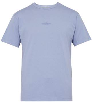 Stone Island Logo Print Cotton T Shirt - Mens - Light Purple