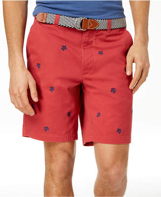 "Club Room Men's Turtle Embroidered 9"" Shorts, Created for Macy's"