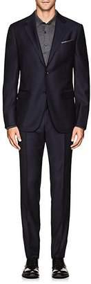 Barneys New York MEN'S STRIPED WOOL TWILL SUIT - NAVY SIZE 50 L