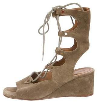 Chloé Suede Sandal Wedges
