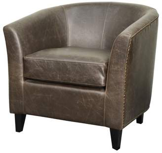 NPD Orson Modern Rustic Bonded Leather Tub Chair , Multiple Colors
