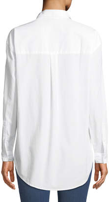 0fd07a040d811 White High Collar Button Down Shirt - ShopStyle