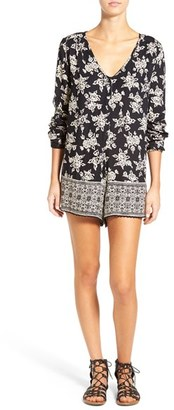 Volcom 'On the Brink' Floral Print Long Sleeve Romper $59.50 thestylecure.com
