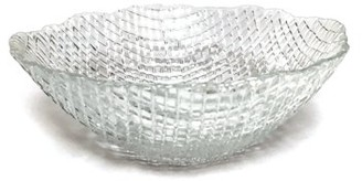 clear Red Pomegranate SET OF 4 LUMIERE SOUP BOWLS