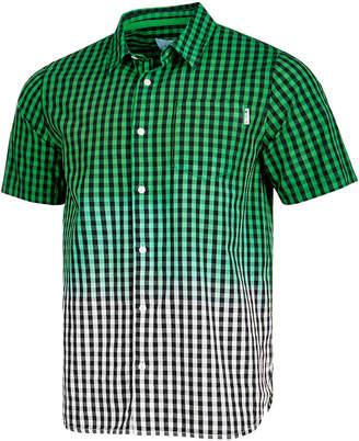 Lrg Men's Jamrock Dip-Dyed Check Pocket Shirt