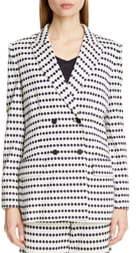 Max Mara Ponza Dot Stripe Knit Jacket