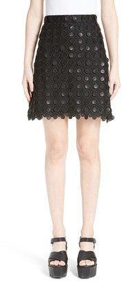 Women's Carven 3D Embroidered Miniskirt $390 thestylecure.com