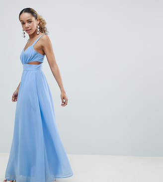 Asos DESIGN Petite Side Cut Out Maxi Dress with Cami Straps