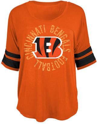 5th & Ocean Women Cincinnati Bengals Circle Logo T-Shirt
