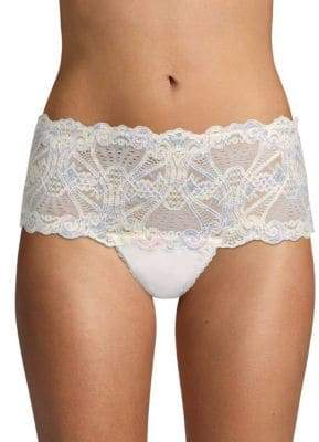 Mimi Holliday Scalloped-Trim Lace Hipster