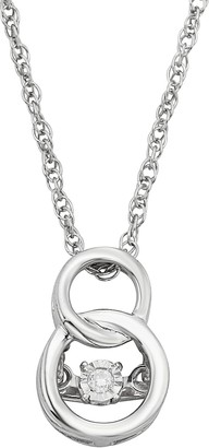 Circle of love diamond pendant shopstyle dancing love diamond accent sterling silver double circle pendant necklace aloadofball Choice Image