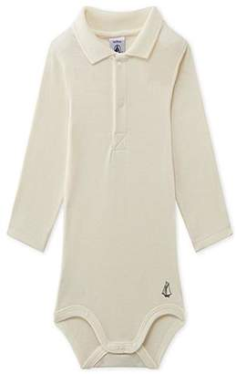 Petit Bateau Cream Bodysuit W/collar
