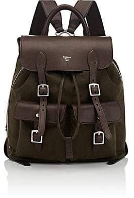 Fontana Milano 1915 Men's Leather-Trimmed Expandable Backpack - Brown
