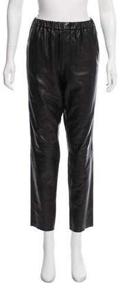 Vince High-Rise Leather Pants