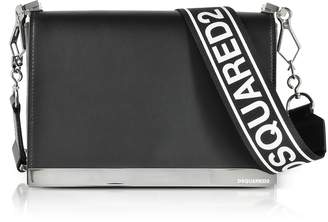 DSQUARED2 Black Leather Small Shoulder Bag
