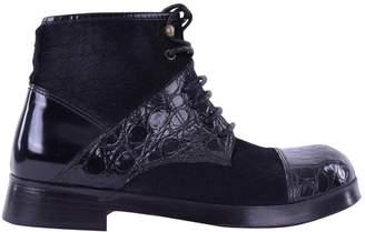 Dolce & Gabbana Black Crocodile Boots