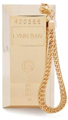 Lynn Ban - Bullion Bar Gold Plated Wristlet Bag - Womens - Gold