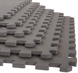 STALWART Stalwart 6-pack Gray Interlocking EVA Foam Floor Mats