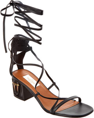 Valentino Tribal Lace Up Leather Gladiator Sandal