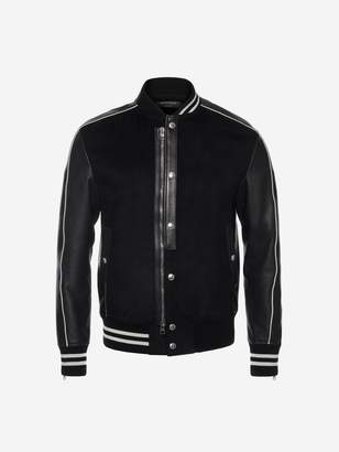 Alexander McQueen Embroidered Varsity Jacket