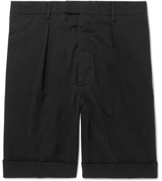 Officine Generale Tapered Cotton-Seersucker Shorts