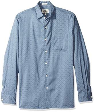 Casual Terrains Men's Classic-Fit Long-Sleeve Dotted Camp Shirt .