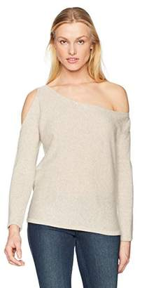 Minnie Rose Women's 100% Cashmere Open Shoulder Sweater