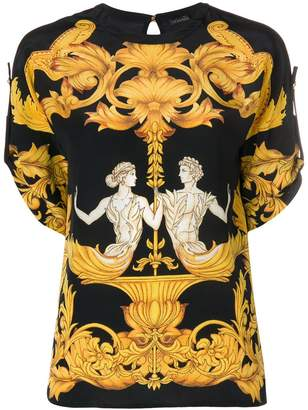 Versace Baroque print top