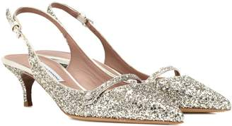 Tabitha Simmons Exclusive to mytheresa.com Layton glitter slingback pumps