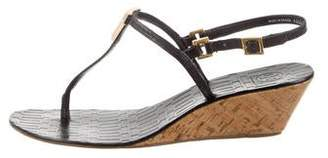 Tory Burch Leather T-Strap Sandals