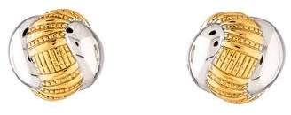 Nina Ricci Two-Tone Clip-On Earrings