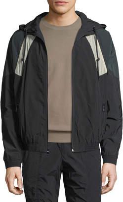 Vince Hooded Soft-Shell Jacket