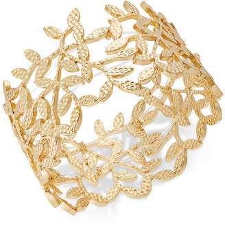 INC International Concepts I.n.c. Gold-Tone Leaf Stretch Bracelet, Created for Macy's