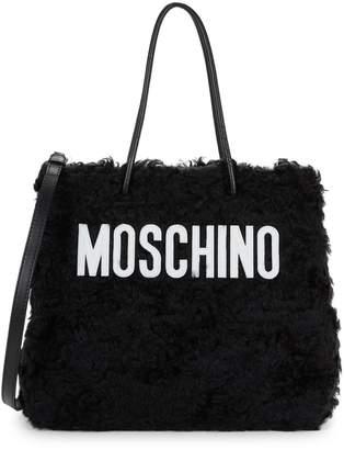Moschino Logo Mohair Satchel