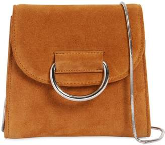 Tiny Box Suede Shoulder Bag