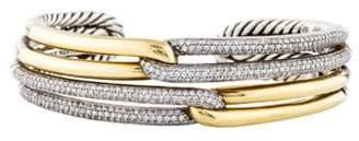 David Yurman Diamond Labyrinth Double-Loop Bracelet silver Diamond Labyrinth Double-Loop Bracelet